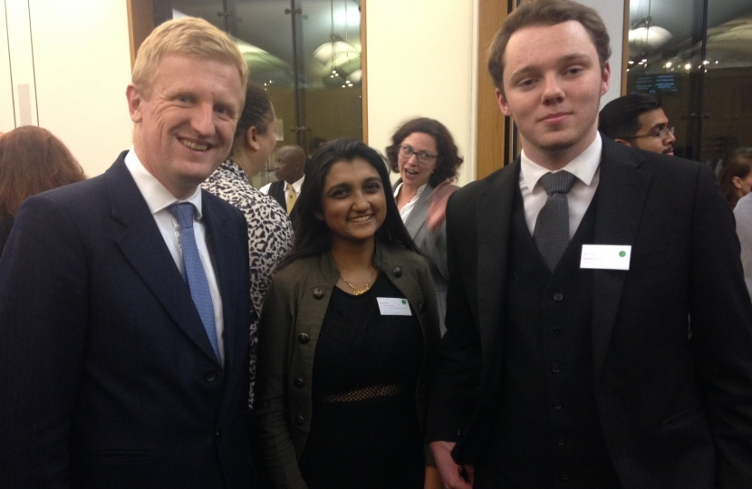 Oliver Dowden MP at Access Aspiration Event in Parliament - 2016