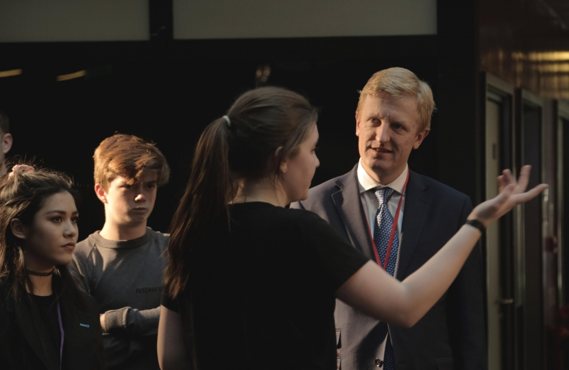 Oliver Dowden MP visiting Elstree UTC