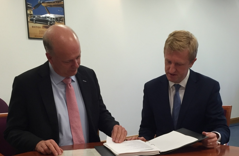 Oliver Dowden MP meeting with the Transport Secretary - December 2016