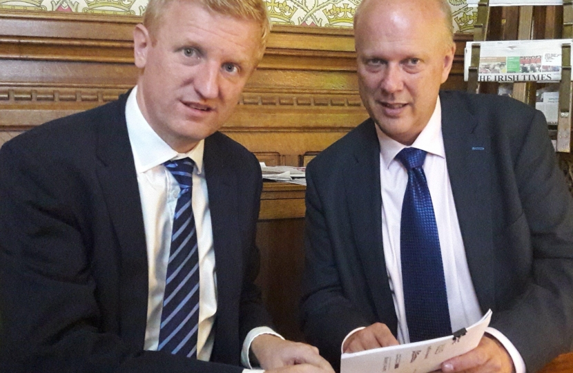 Oliver Dowden MP with the Transport Secretary - 13.07.17