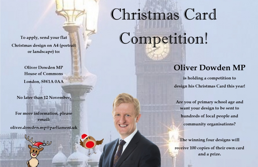 Oliver Dowden MP   Christmas Card Competition 2017