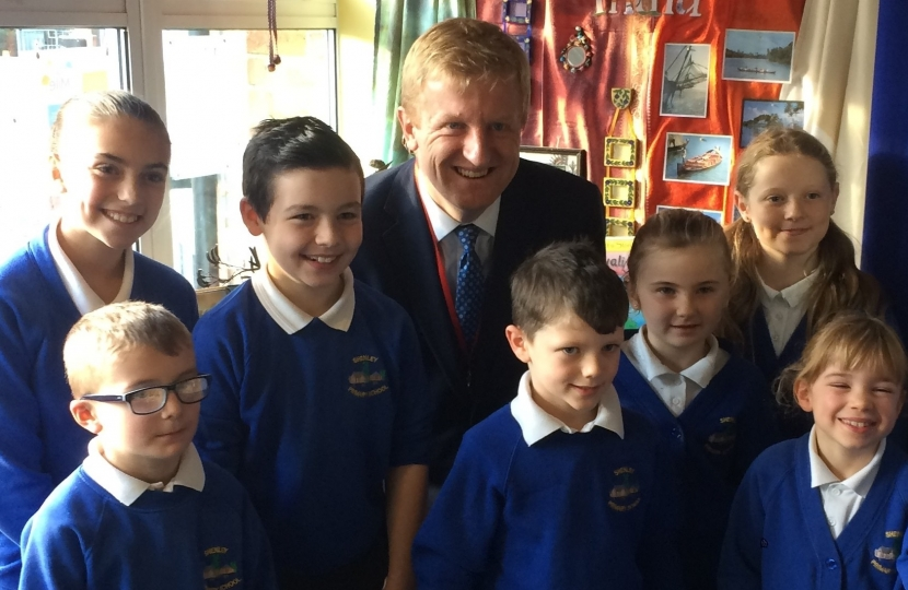Oliver Dowden MP at Shenley Primary School - 08.12.17