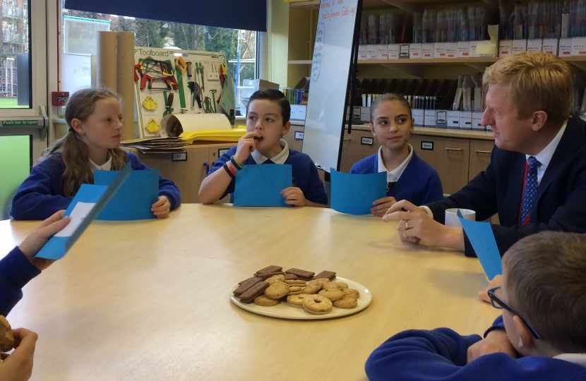 Question Time for Oliver at Shenley Primary's 'School