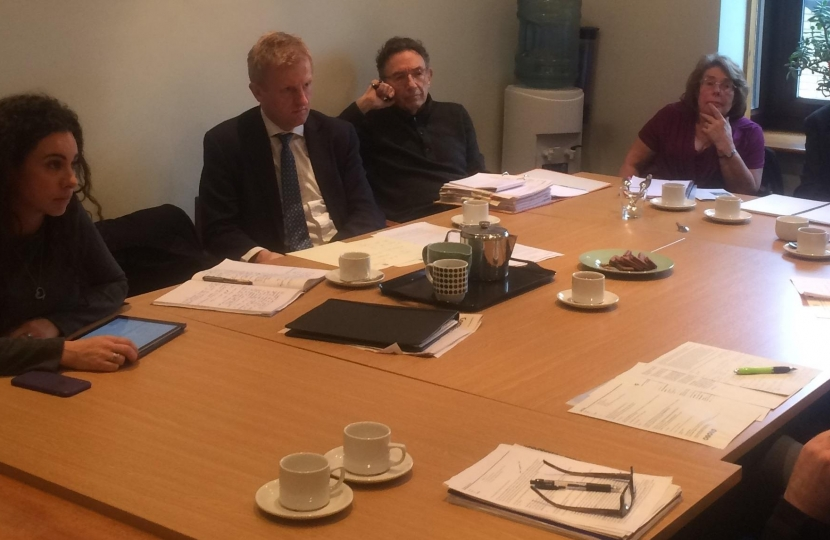 Oliver Dowden MP at the Reviva Recycling Plant Meeting