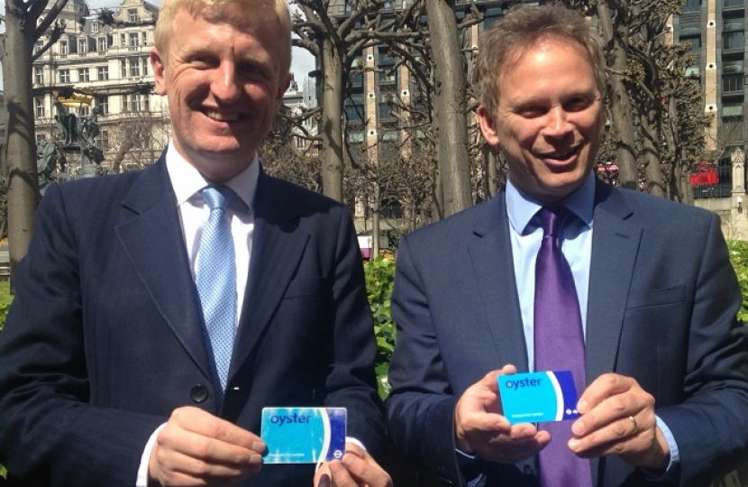 Oliver Dowden CBE MP with Grant Shapps MP