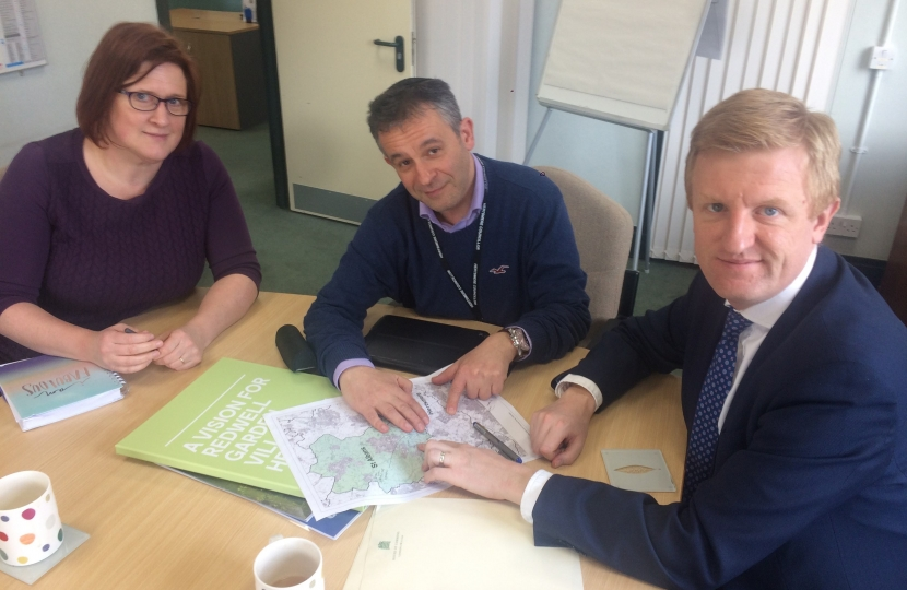 Oliver Dowden CBE MP meeting with Hertsmere Borough Council Planning - 23.03.18